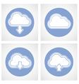 Cloud computing icon - online storage vector image vector image