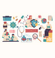 collection scientists doctors or researchers vector image