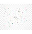 colorful celebration confetti vector image