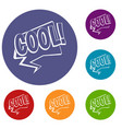 cool comic text speech bubble icons set vector image vector image