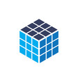 cube rubik business logo vector image