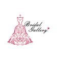 dress boutique bridal logo ideas template vector image vector image
