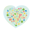 Ecology symbol - abstract heart vector image