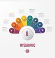 elements infographics conceptual cyclic processes vector image vector image