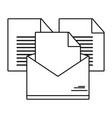 email open cartoon vector image
