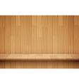 empty wooden shelf background vector image vector image