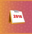 flip-flop 2018 calendar vector image vector image