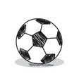 Football on a white background vector image