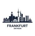 Frankfurt Skyline Emblem vector image vector image