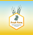 fresh farm emblem vector image