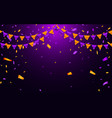 Garland flag and confetti in party and enjoyment