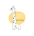 giraffe logo template original design animal vector image vector image