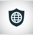 globe shield icon for web and ui on white vector image vector image