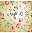 Hand drawn Christmas seamless pattern EPS vector image