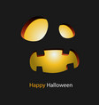 happy halloween smiling monster background vector image