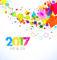 Happy new year 2017 Abstract colorful background vector image vector image