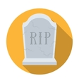 Headstone icon in flat style isolated on white vector image