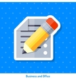 Icon of sheet and pencil vector image vector image