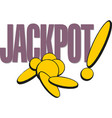 jackpot gambling game banner casino or lottery vector image