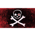 jolly roger with eyeballs vector image