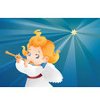 kid angel musician flutis flautist flying on a vector image vector image