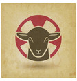 lamb god vintage background vector image