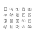 Line Book Icons vector image vector image