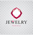 luxury faceted decorative element brilliant vector image vector image