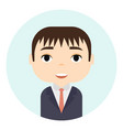 man avatar with smiling faces male cartoon vector image vector image