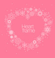 minimalist floral background heart frame vector image vector image