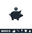 Moneybox icon flat vector image