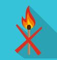 no fire icon flat style vector image vector image