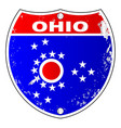 ohio flag icons as interstate sign vector image vector image