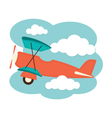 Plane in the clouds vector image vector image