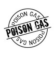 poison gas stamp on white vector image