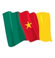 Political waving flag of cameroon vector image