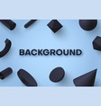 realistic modern 3d geometric background vector image vector image