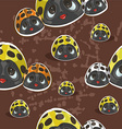 Retro style lady birds pattern vector image vector image