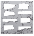 rough stickers on grunge wall vector image vector image
