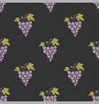 seamless pattern with bunches of ripe grapes on vector image