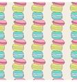Seamless yammy macaron pattern vector image