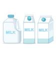 set milk on ehite background vector image