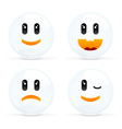 Set Of Cheerful And Sad Smiles vector image