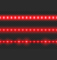 Set of led glowing light stripes
