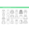Set with different skirts vector image vector image