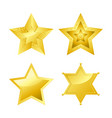 shiny bright five-pointed stars of several designs vector image vector image