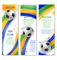 soccer game banners for sport design vector image vector image