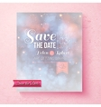 Soft ethereal Save The Date wedding template vector image vector image