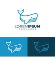sperm whale logo vector image