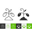 sprout simple black line icon vector image vector image